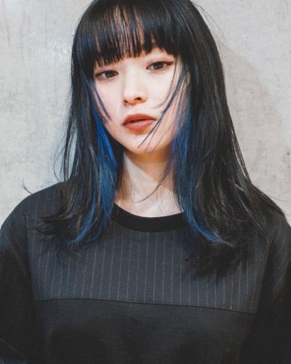 黒髪 インナー カラー