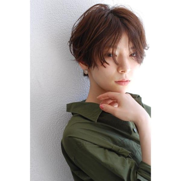 くせ毛のパーマ風アレンジ①ショートヘア2