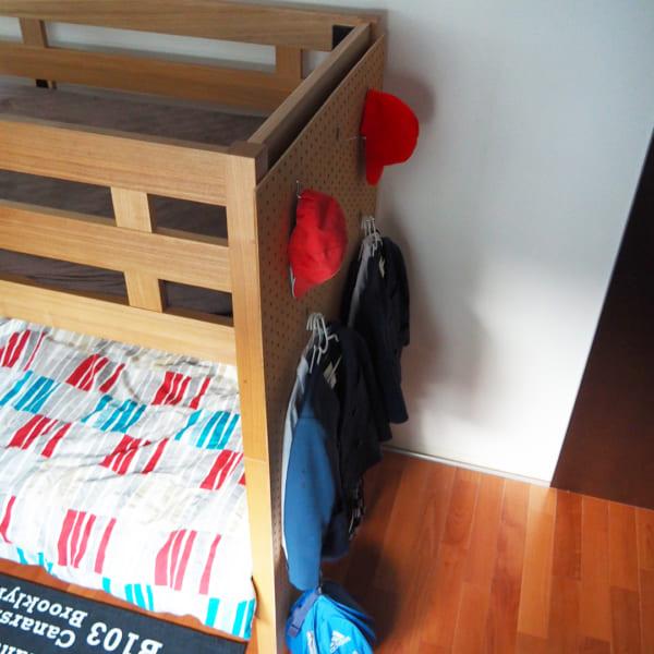 ランドセル・学用品収納 無印良品 ベッド 有孔ボード