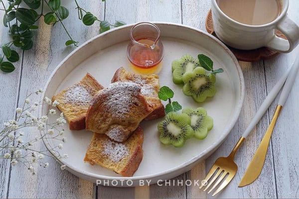 胡桃パンのフレンチトースト:オーバルプレートに