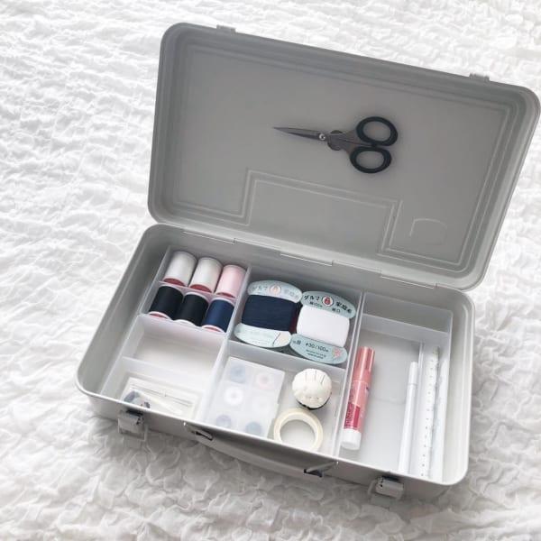 裁縫道具収納 無印良品のスチール工具箱