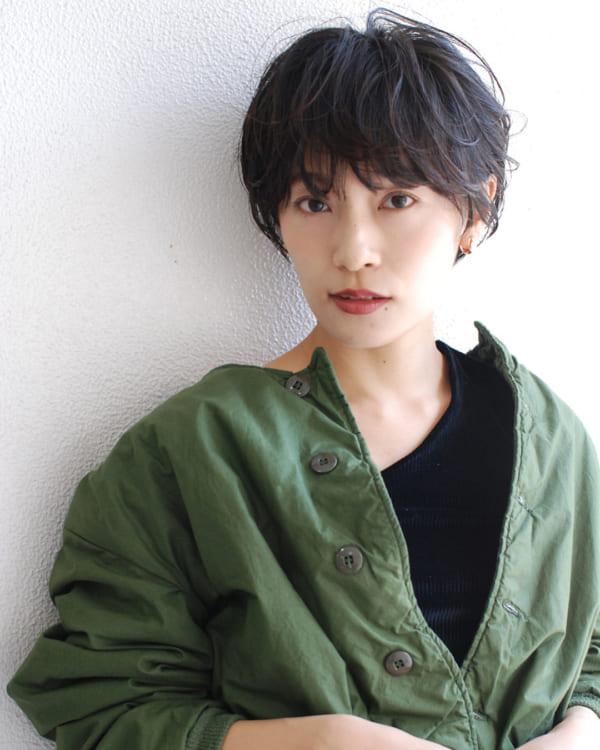 くせ毛のパーマ風アレンジ①ショートヘア3