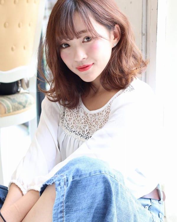 くせ毛のパーマ風アレンジ①ショートヘア7