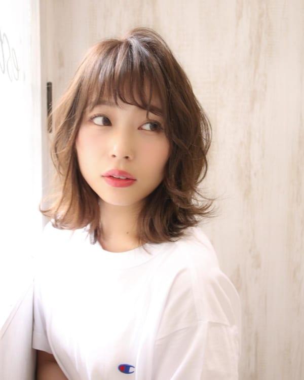くせ毛のパーマ風アレンジ①ショートヘア12