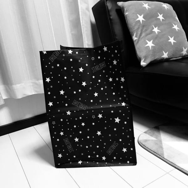 星モチーフの収納バッグ
