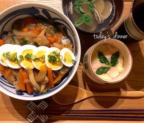 一人暮らし レシピ 中華丼