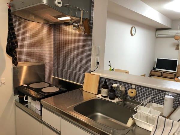 一人暮らしのキッチンインテリア
