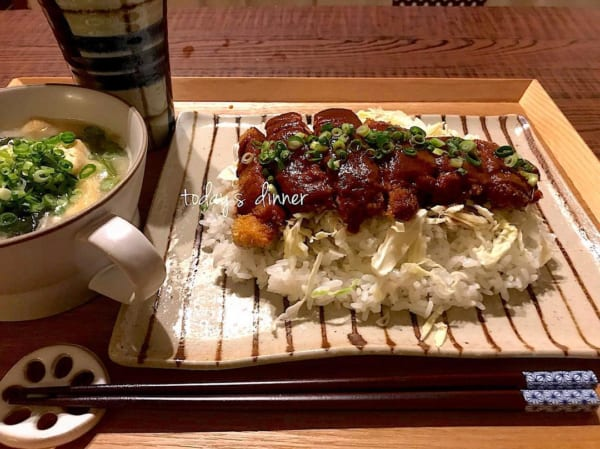 一人暮らし レシピ かつ飯丼