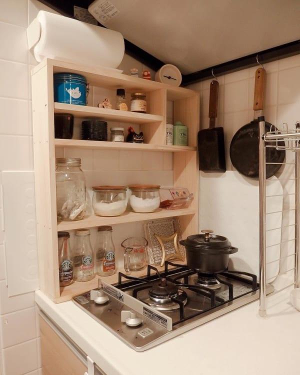一人暮らしのキッチンインテリア3