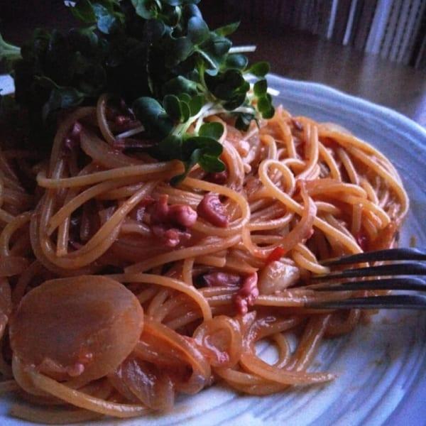 イカの塩辛スパゲッティ