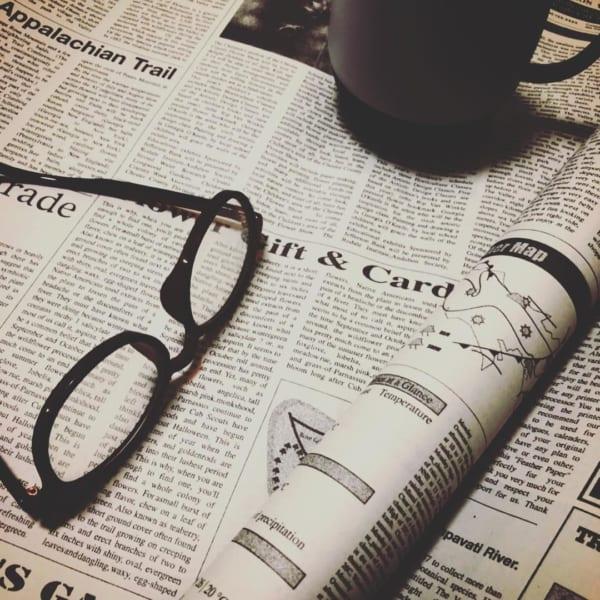 英字新聞風の包装紙