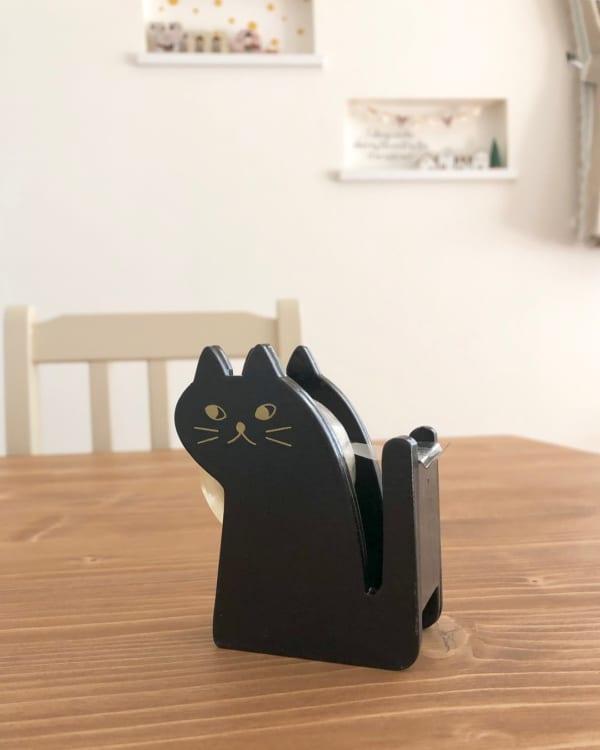 ネコのテープカッター(ミカヅキモモコ)