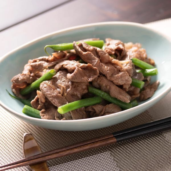 一人暮らし レシピ インゲンと牛肉の甘辛炒め