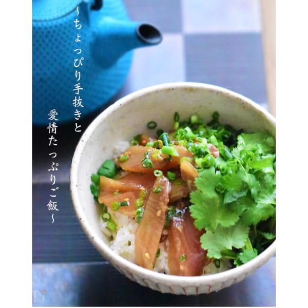 ブリの韓国風味漬け丼