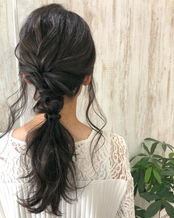 くせ毛を生かすヘアアレンジ5