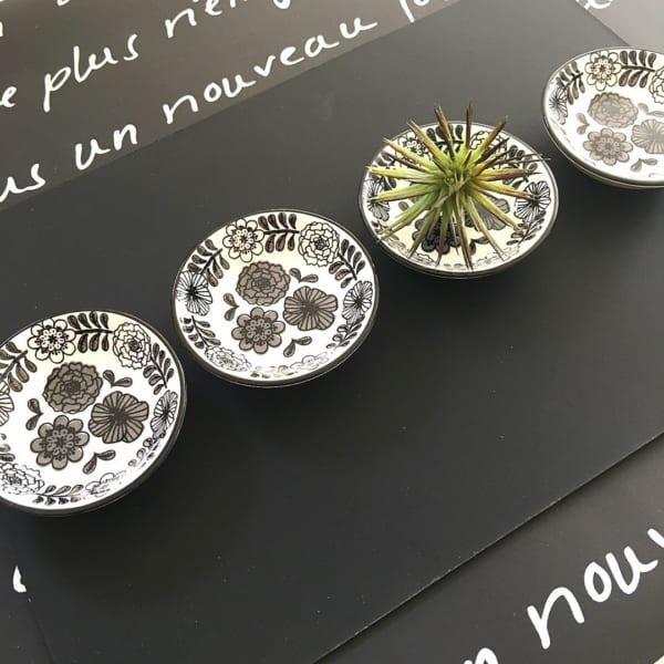 セリアの花柄豆皿