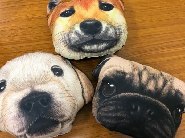 犬クッション:セリア