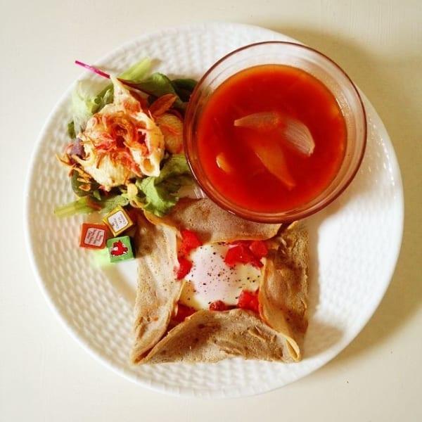 トマトとオニオンの真赤なスープ ワンプレート