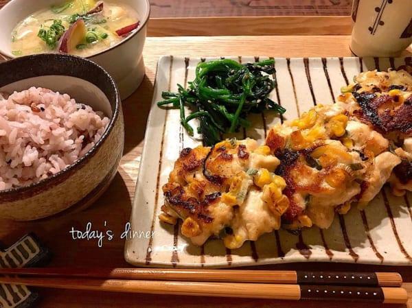 一人暮らし レシピ 鶏胸肉 コーン