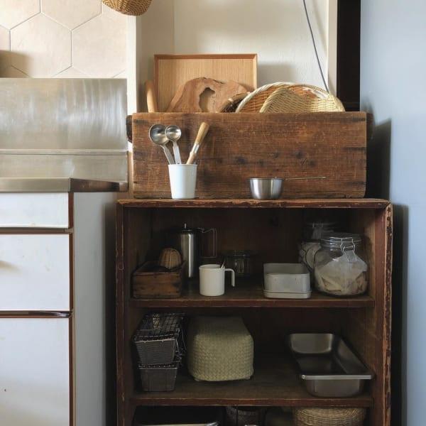 古道具好きさんの素敵なキッチン:古いアパートをリノベーション6