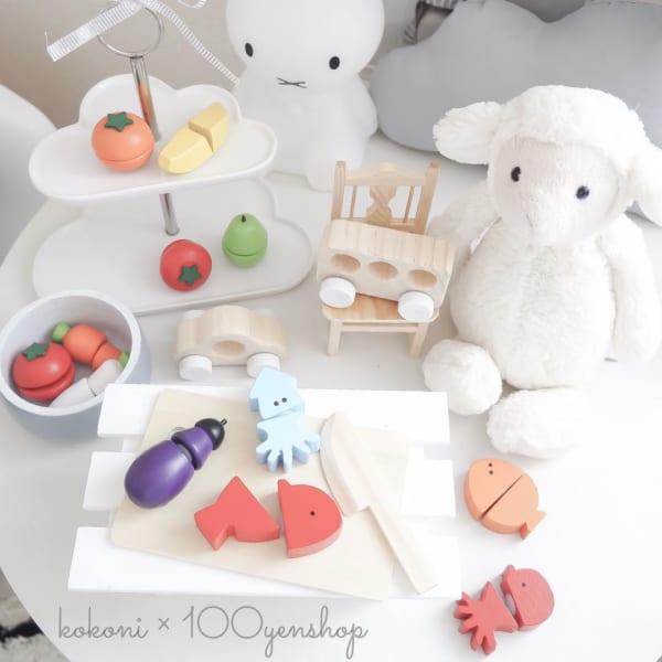キャンドゥ ワッツ コラボ 木製玩具