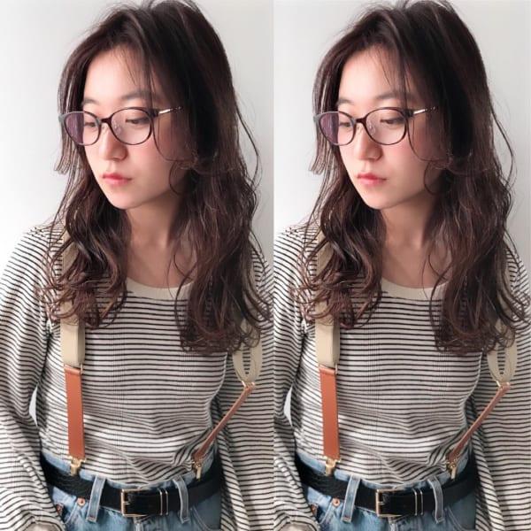 メガネ×ぱっつん前髪