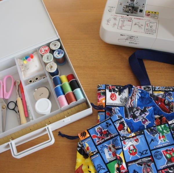 裁縫道具収納 無印良品の自立するキャリーケース2