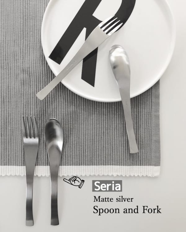 セリア フォークとスプーン