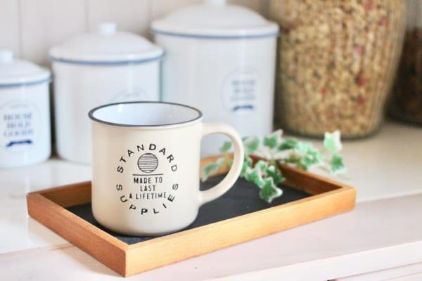 カフェ風マグカップ