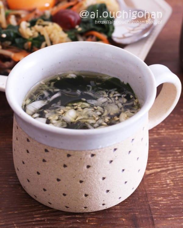 お湯を注ぐだけ!簡単わかめスープ