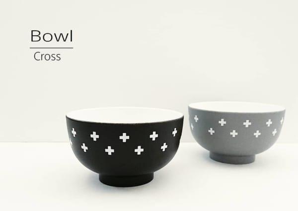 京型汁椀/クロス柄(セリア)