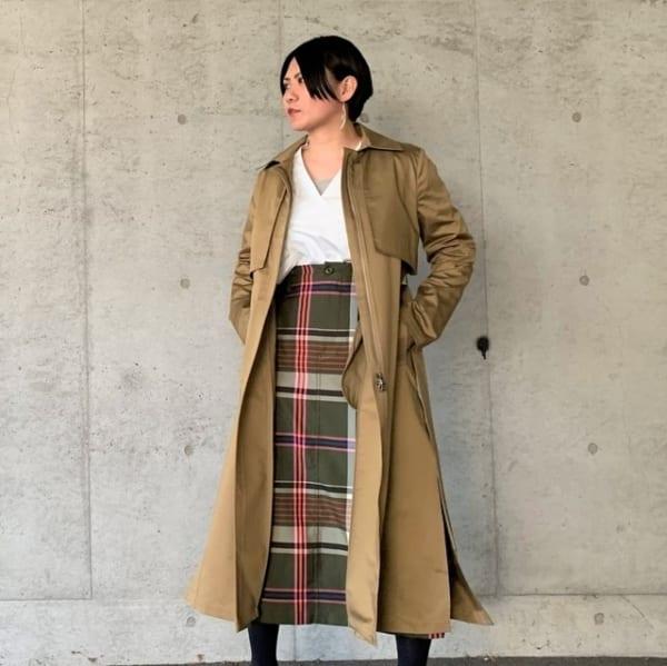 [sus4cus.]you ozeki/ロングスリットトレンチコート