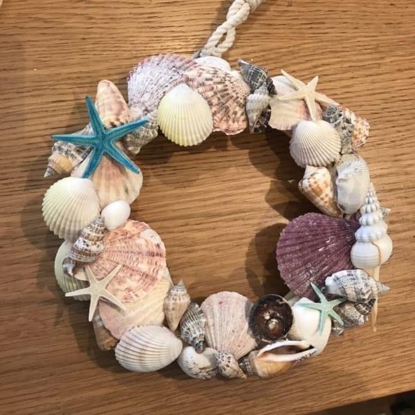 ハンドメイド リース 貝殻