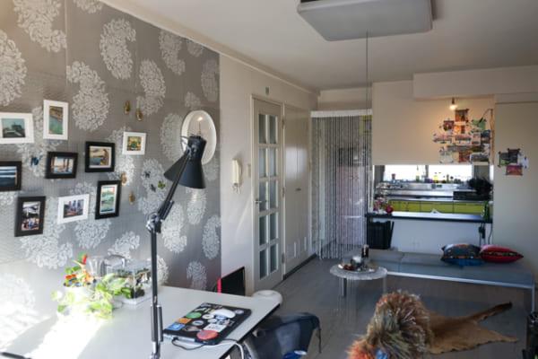 壁面インテリア 壁紙 DIY ホチキス