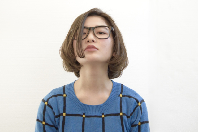 メガネ 前髪13