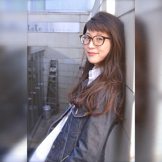 メガネ 前髪