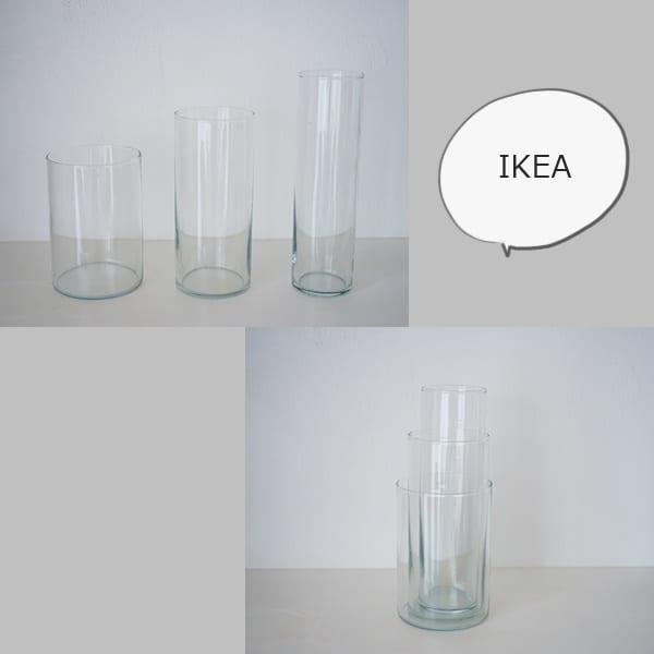 IKEA 花瓶 シリンデル