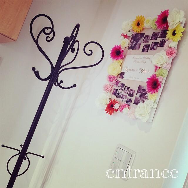 造花 ウェルカムボード