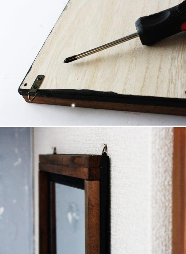 セリア ウォールミラー DIY10