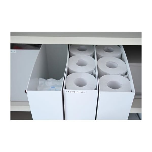 【無印】ファイルボックス×トイレットペーパー