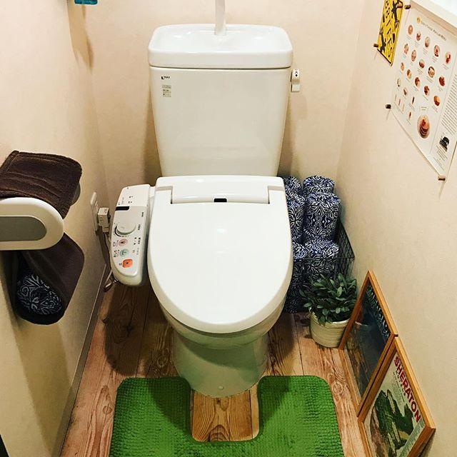 トイレットペーパーをおしゃれに見せる収納6