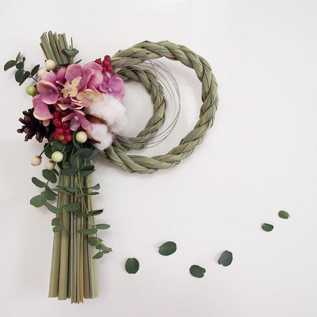 造花インテリア しめ縄