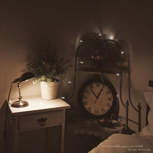 寝室インテリア ライト アンティーク