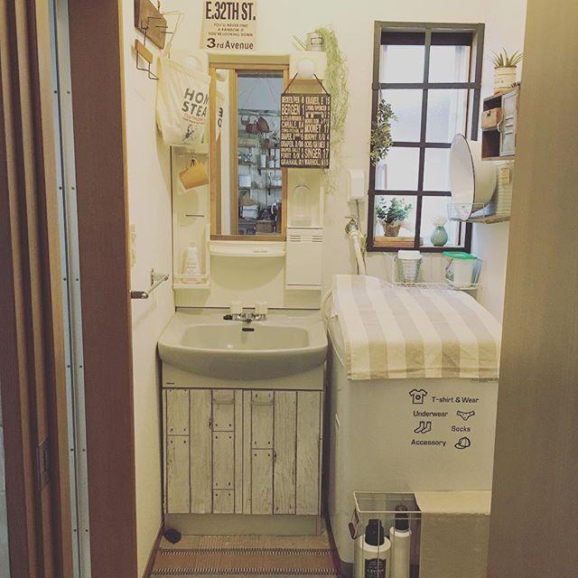 一人暮らしインテリア 洗面所