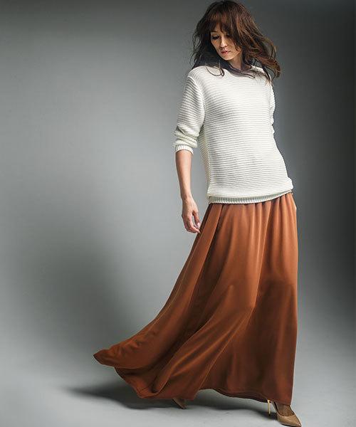 [Ranan] 日本製フレアーマキシスカート