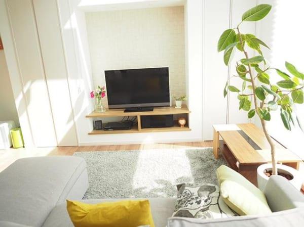 スタンダードなテレビボードは、インテリアになじむものをチョイス☆6