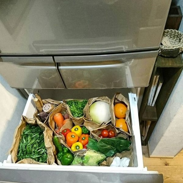 冷蔵庫横の隙間を活用する4