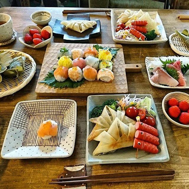端午の節句 料理 食卓3