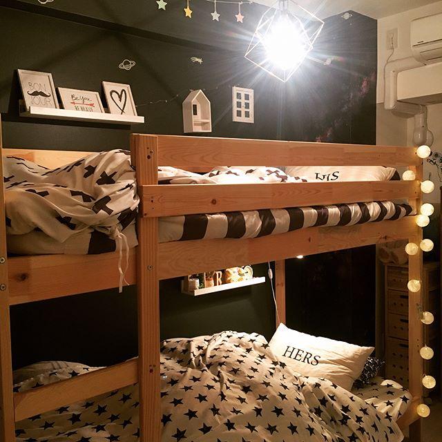 可愛い星空のベッド