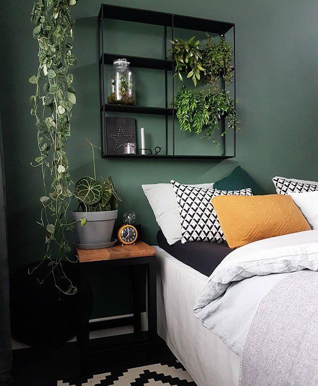 寝室インテリア グリーン2